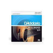 EJ11 80/<b>20 Bronze</b>   Acoustic Guitar Strings   D'Addario