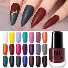 <b>NEE JOLIE 3.5ml Matting</b> Nail Polish Dark Red Velvet Nail Art Oily ...