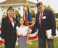 former guv rendell celebrates memorial day in brookhaven the spirit brookhaven councilw denise leslie and memorial day master of ceremonies harry seth congratulate isabella leslie