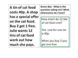 boxing up a mathematical essay what is the question asking me  a tin of cat food costs p a shop has a special offer on the