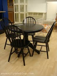 Black Dining Room Chairs Appealing Smalll Round Black Wooden Bullnose Edge Dining Table