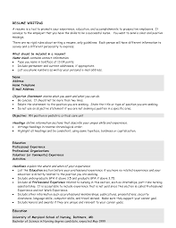easy resume objective examples