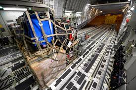 u s department of defense photo essay airmen load pallets of equipment and supplies for earthquake victims in into a u s air