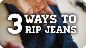 3 Methods to get DIY <b>Ripped Jeans</b> (Tutorial) - YouTube