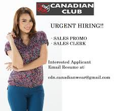 we are in need of mall promodisers job description requirements