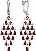 <b>Серьги</b> с камнем красным серебряные   Festima.Ru - Мониторинг ...
