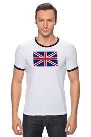 """<b>Футболка</b> """"Рингер"""" (Мужская) """"United Kingdom"""" от GOOD PRINT ..."""