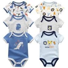 <b>6PCS</b>/<b>LOT Newborn Baby</b> Clothes Short Sleeve Girl Boy Clothing ...