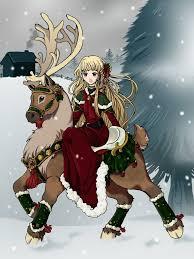 Reindeer Ride by https://www.deviantart.com/kuro-rakuen on ...