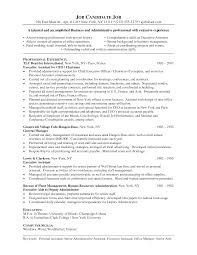 cover letter sample resume of executive assistant sample resume cover letter executive assistant objective unforgettable executive sample of a functional resume for an administrativesample resume