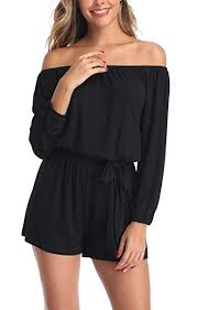 <b>MISS MOLY</b> Jumpsuits <b>Women Sexy</b> Off The Shoulder 3/4 Sleeve ...