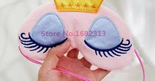 Lovely Pink/Blue Crown Sleeping Mask Eyeshade Eye Cover Travel ...