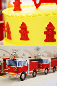 Firefighter Cupcake Decorations Fire Truck Cupcake Toppers Printable Cake