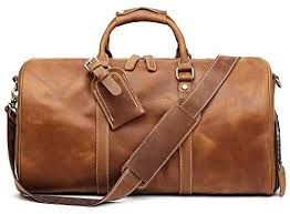 TUZECH <b>Genuine Leather Vintage Travel</b> Unique Luggage Bag ...