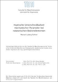 Dissertation   www   Bedienhaptik   de Bedienhaptik