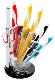 <b>Набор MAYER & BOCH</b> 5 <b>ножей</b>, ножницы и мусат с подставкой ...