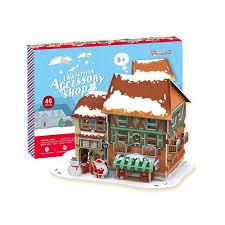 Купить 3D пазл <b>Cubicfun Рождественский домик</b> 4 ( с подсветкой ...