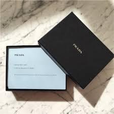 Prada Black Certificate Gift Card - Tradesy