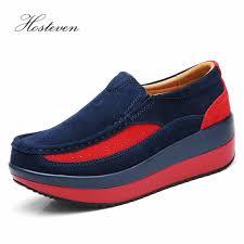 <b>Hosteven Women'S Shoes</b> Flat <b>Sneakers</b> Ballet Genuine Leather ...