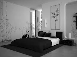 bedroom black and white bedding on the black rug plus black wooden side table bedroom furniture interior fascinating wall