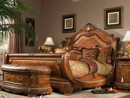 leather bedroom suite king sleigh