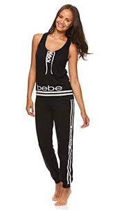 bebe Womens Printed Tank Top and Skinny <b>Lounge Pajama Pants</b> ...