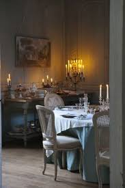 french dining room features crystal droplets