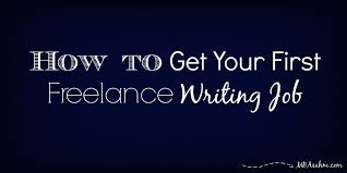 how to get your first lance writing job mba sahm