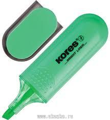 """<b>Kores Маркер выделитель</b> текста """"<b>Kores</b>"""" зеленый, 1-5 мм в ..."""