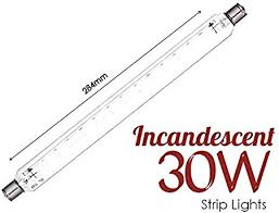 2 <b>X</b> Striplight 240V <b>60W</b> 284mm Clear