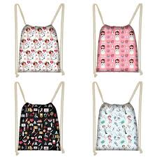 2019 <b>Twoheartsgirl</b> Cartoon Nurse Pattern <b>Women Drawstring Bags</b> ...