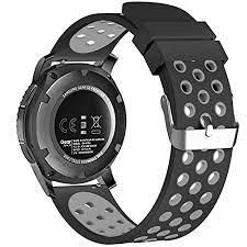 FanTEK 22 mm <b>Universal</b> Soft Silicone Sport <b>Smartwatch</b> Quick ...