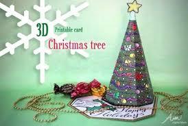 <b>3D</b> Christmas <b>Tree</b> Card Printable | Alpha Mom