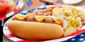 Image result for 4th of july hot dogs
