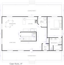 Blueprints for Houses   Open Floor Plans  house open floor    Free House Floor Plan Examples