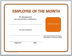 certificate templates for word microsoft and open office employee of the month certificate templates