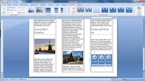 make a brochure from scratch in word