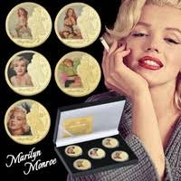 <b>1</b> Set 5 <b>PC Marilyn Monroe</b> Gold Plated Commemorative Coin for ...