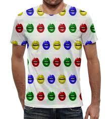 Футболка с Полной Запечаткой (Мужская) <b>Printio</b> Цветные Губы ...