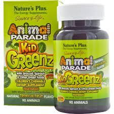 Nature's Plus, <b>Source of Life</b>, <b>Animal</b> Parade, Kid Greenz with ...