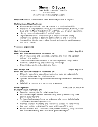 resume examples resume sample for s associate resume sample   resume sample for s associate for objective highlights qualifications and volunteer experience