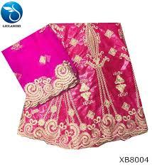 <b>LIULANZHI</b> 5 <b>Yards</b>+2 <b>Yards</b> India Bazin Riche African Lace Fabric ...
