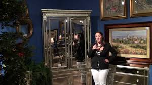 borghese mirrored armoire by bassett mirror company home gallery stores youtube borghese furniture mirrored