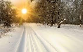 Winter <b>Sunset</b> On The <b>Snow</b>