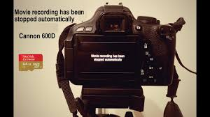 Fixing - Movie recording has been stopped automatically - YouTube
