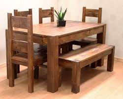 chair dining room tables rustic chairs: brown rustic brown wooden white seat classic rustic wooden bench rustic dining traditional dining room sets room style