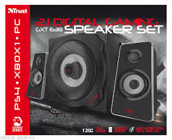 <b>TRUST</b> 2.1 <b>GXT 638</b> 120W DIGITAL SPEAKER SET FOR PC WII ...