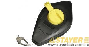<b>Шнур</b>-<b>отвес STAYER разметочный</b>, корпус пластмассовый, 30 м ...