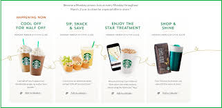 starbucks launches happy mondays for members solomozone member exclusives starbucks has created an engagement strategy for rewards members that is likely to