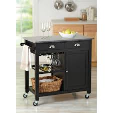 leaf kitchen cart: better homesampgardens bhg deluxe kitchen cart island black walmartcom